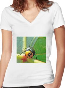 Rain Forest Insect. Women's Fitted V-Neck T-Shirt