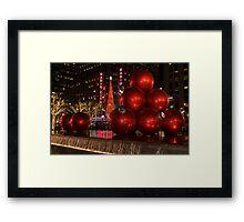 New York city at night during Christmas holiday 1 Framed Print