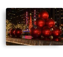 New York city at night during Christmas holiday 1 Canvas Print