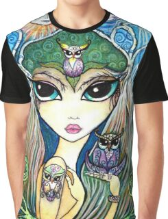 Owlete The Owl Queen, by Sheridon Rayment Graphic T-Shirt