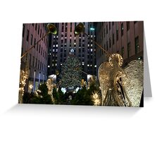 Rockefeller Christmas tree and ice skating rink pictured on December 19, 2011  Greeting Card