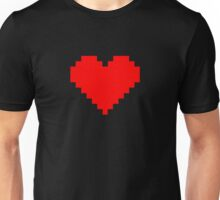 Pixel Heart- Red Unisex T-Shirt