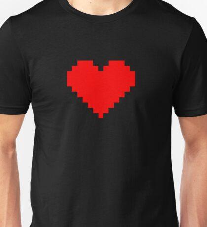 Pixel Heart- Red Unisex T-Shirt