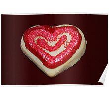 Heart Valentine Cookie Poster