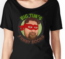 Big Tim's Funny Books #2 (transparent lettering) Women's Relaxed Fit T-Shirt