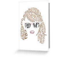 Taylor Swift - 1989 Word Illustration Greeting Card
