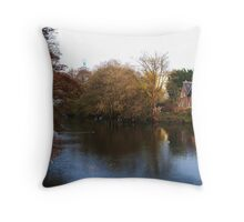 Riverside Cottage Throw Pillow