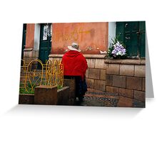 People 4243  Sucre, Bolivia Greeting Card