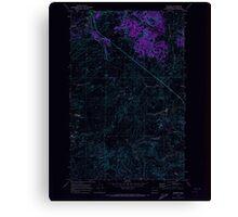 USGS Topo Map Washington State WA Telford 244223 1969 24000 Inverted Canvas Print