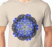 Blue Delphinium Celtic Flower Circle Unisex T-Shirt