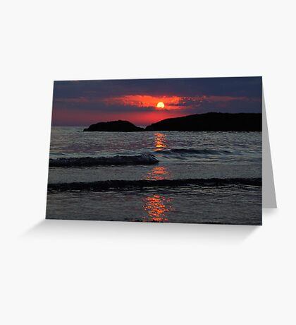 Another Awesome Lake Superior Sunset Greeting Card