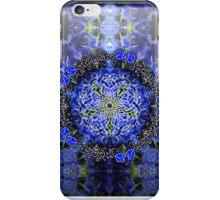 Blue Delphinium Celtic Flower Circle iPhone Case/Skin