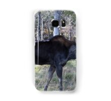 Male moose in the woods Samsung Galaxy Case/Skin