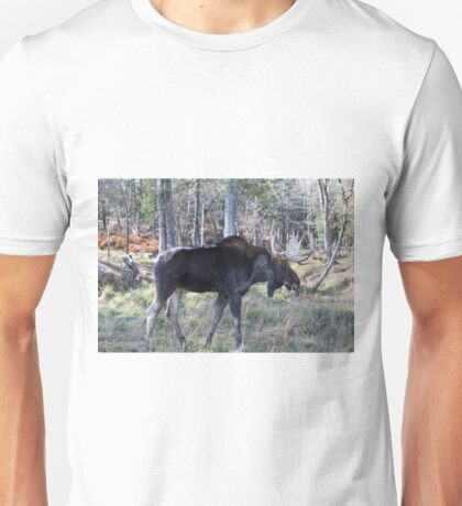 Male moose in the woods Unisex T-Shirt