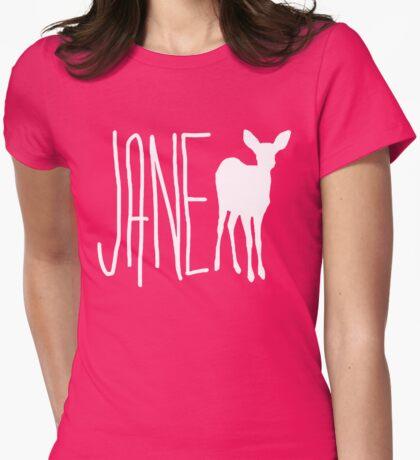 Jane Doe - Deer  Womens Fitted T-Shirt
