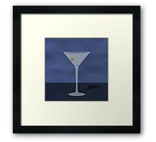 Martini Blue Framed Print
