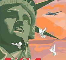 USA, Statue of Liberty and Peace by contourcreative
