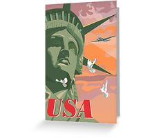 USA, Statue of Liberty and Peace Greeting Card