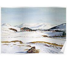 Winter in Glenshee, Scotland Poster