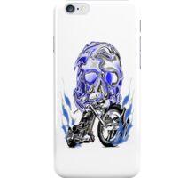 BLUE CHROME BIKER iPhone Case/Skin