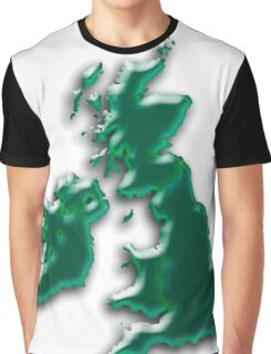Great Britain  Map Graphic T-Shirt