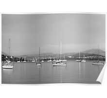 Yachts in Sandy Bay Poster
