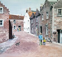 The road to Crail Harbour, Scotland by Joyce Grubb