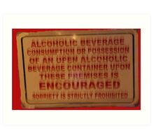 Beverages sign in New Orleans Art Print