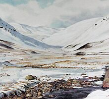 Glen Taitneach in winter in Perth & Kinross area by Joyce Grubb