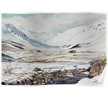 Glen Taitneach in winter in Perth & Kinross area Poster