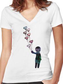 Retro Bliss Women's Fitted V-Neck T-Shirt