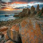 Last Light at Woolamai - The Pinnacles, Phillip Island by Sean Farrow