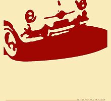 Fiat 600 Detail, 1956 - Red on Cream by uncannydrive