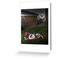 Too Much Eggnog For Santa Greeting Card