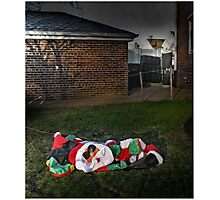 Too Much Eggnog For Santa Photographic Print
