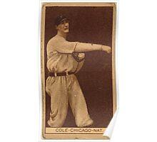 Benjamin K Edwards Collection Leonard Cole Chicago Cubs baseball card portrait Poster