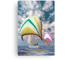 America's cup . . . the upset.  Canvas Print