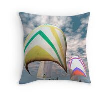 America's cup . . . the upset.  Throw Pillow
