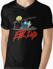 Evil Dad Mens V-Neck T-Shirt