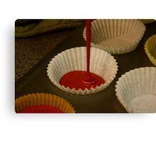 Red Velvet Cupcake Batter Canvas Print