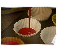 Red Velvet Cupcake Batter Poster