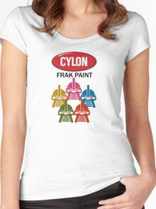 Cylon Frak Paint Women's Fitted Scoop T-Shirt