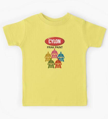 Cylon Frak Paint Kids Tee