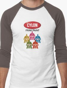 Cylon Frak Paint Men's Baseball ¾ T-Shirt