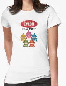 Cylon Frak Paint Womens Fitted T-Shirt