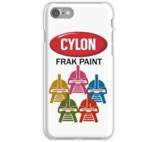 Cylon Frak Paint iPhone Case/Skin