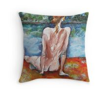 Almost Alone At The Beach Throw Pillow