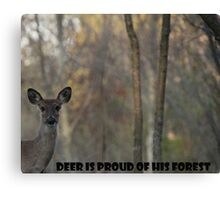 Deer Is Proud of his Forest! Canvas Print