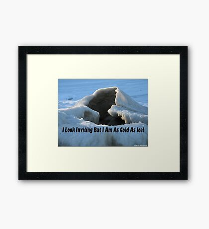 I look inviting but I am cold as ice. Framed Print