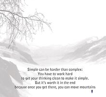 Simple Vs Complex - Steve Jobs by Trilbycole